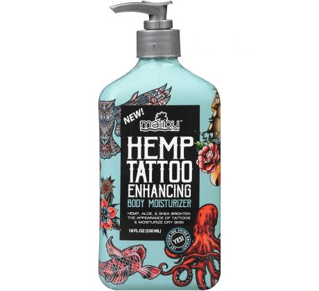 Malibu Tan Hemp Tattoo Enhancing Body Mosisturizer 530ml